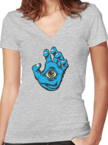 All Seeing Hand Women's Fitted V-Neck T-Shirt