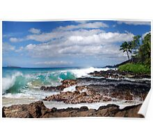 Turqouise Breakers of Makena, Hawaii Poster
