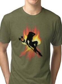 Devilish lady Straight from hell TEE Tri-blend T-Shirt
