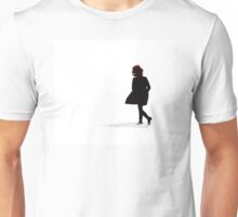 Woman Running in Snow Unisex T-Shirt