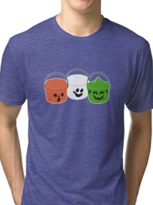 Happy Meal in Gray Tri-blend T-Shirt