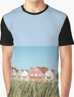 Striped Summer Houses  Graphic T-Shirt