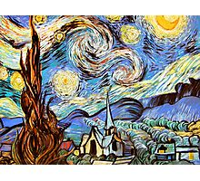 Starry night a Tribute to Vincent Vangogh Photographic Print
