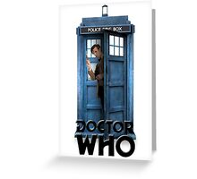 Doctor Who - 11 Peeking out of the Tardis Greeting Card