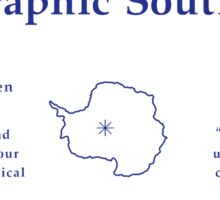 Geographic South Pole Sign, Antarctica Sticker