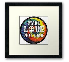 Make love not war Framed Print