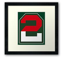 2, two, ARMY, US, USA, America, American, Second Army, 2nd Army, Shoulder Sleeve, Insignia. USA, America, American Framed Print