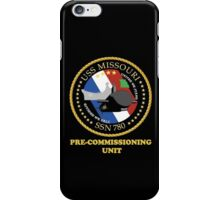 SSN-780 USS Missouri Pre-commissioning Unit Crest for Dark Colors iPhone Case/Skin