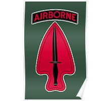 ARMY, AIRBORNE, United States, US, USA, America, American, Special Operations, Command. America, American Poster
