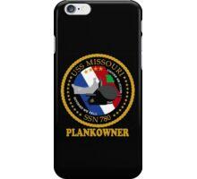 SSN-780 USS Missouri Logo Plank Owner Crest for Dark Colors iPhone Case/Skin