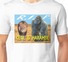 Cecil and Harambe R.I.P. Unisex T-Shirt