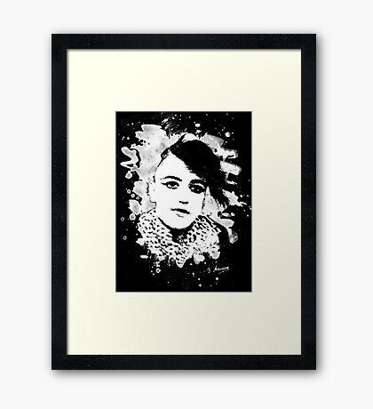 Goth Punk Girl Framed Print