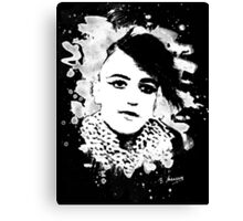 Goth Punk Girl Canvas Print