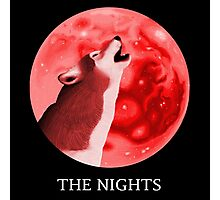 """The Nights"" Logo, Red Photographic Print"