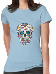 Day of the Dead Skull Womens Fitted T-Shirt
