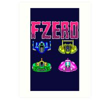 F-ZERO - SUPER NINTENDO Art Print
