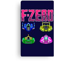 F-ZERO - SUPER NINTENDO Canvas Print