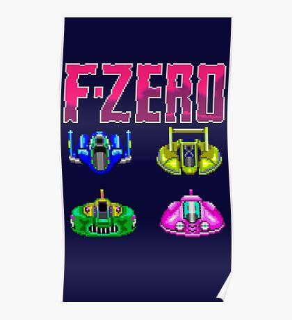 F-ZERO - SUPER NINTENDO Poster