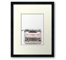Simple Modern Retro Pop Art Pink Typewriter Print Framed Print