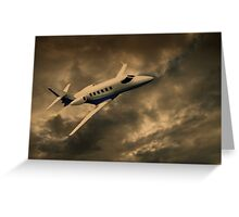 Jet Through The Clouds  Greeting Card