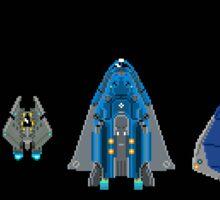 Elite Pixel Ships Sticker