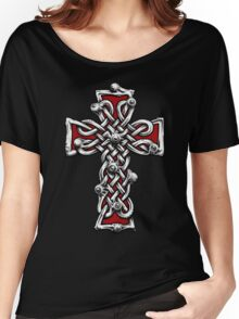 Celtic Cross with Eyes. Women's Relaxed Fit T-Shirt