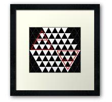 Air&Earth (AV) B&W triangles Framed Print