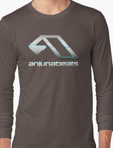 Blue Cracked Anjunabeats Long Sleeve T-Shirt