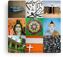 Religions of the world Canvas Print
