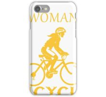Never underestimate a bicycle woman iPhone Case/Skin