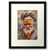 Sadhu in Kathmandu, Nepal Framed Print