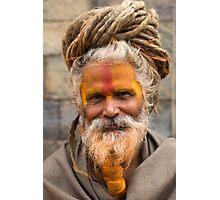 Sadhu in Kathmandu, Nepal Photographic Print