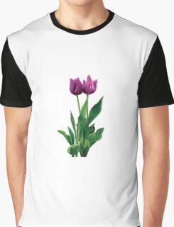 Two Purple Tulips Graphic T-Shirt