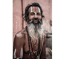 Sadhu in Varanasi, India Photographic Print