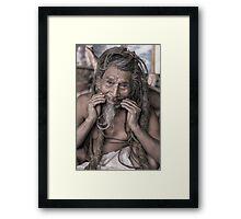 Sadhu - holy man Framed Print