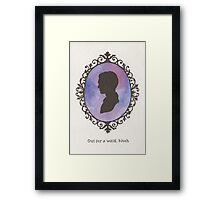 Spike Cameo Framed Print