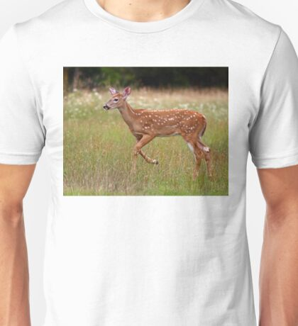 Fawn and Free - White-tailed Deer T-Shirt