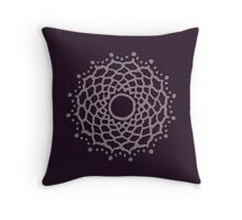 Crown chakra - warm grey Throw Pillow