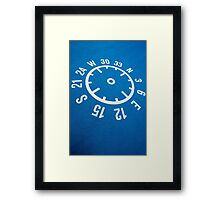 Floor compass with coordinates on the floor Framed Print