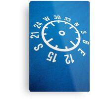Floor compass with coordinates on the floor Metal Print