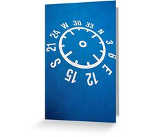 Floor compass with coordinates on the floor Greeting Card