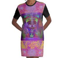 7167 Nefertiti reworked Graphic T-Shirt Dress