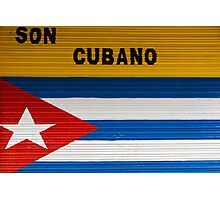 Concept of cuban flag and sound from Cuba Photographic Print