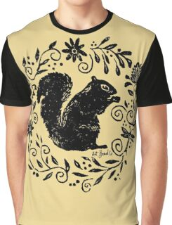 Squirrel Thistle Graphic T-Shirt