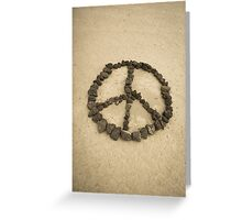 Peace shape made with stones Greeting Card