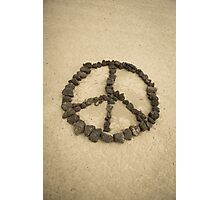 Peace shape made with stones Photographic Print