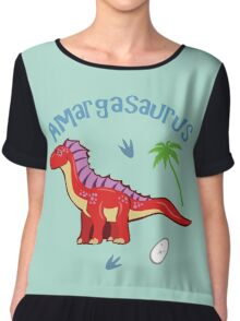 Cute Amargasaurus Chiffon Top