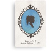 Little Sister Cameo Canvas Print