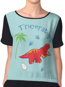 Cute Triceratops Chiffon Top
