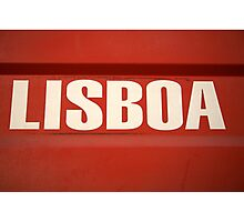 Lisbon sign in Portugal Photographic Print